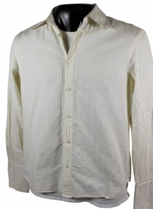 Armani Exchange French Cuff Dress Shirt